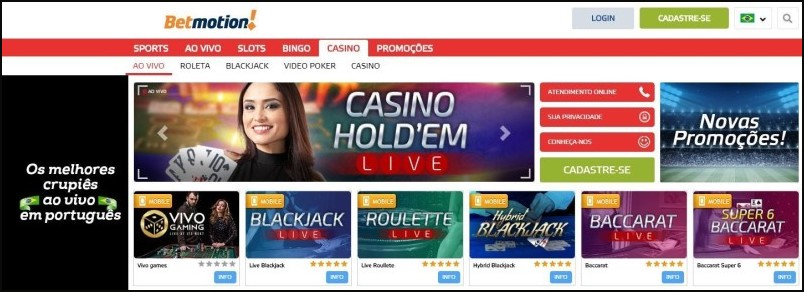 Betmotion casino bet 154126